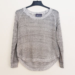 Paper Crane Open Knit Marled Oatmeal Sweater - S
